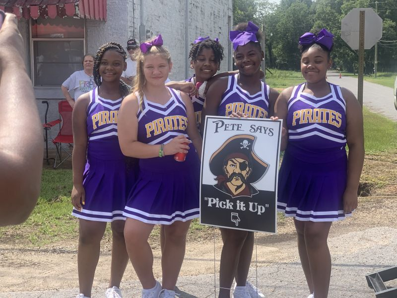 Pete the Pirate & MO Cheerleaders